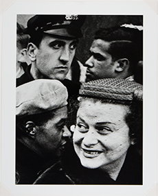 William Klein, 4 Heads, Broadway, New York, 1954