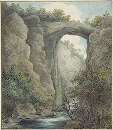 William Russell Birch, The Natural Bridge, Virginia, c. 1805-1808